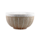 Ceramic bowl on white background. Royalty Free Stock Photography