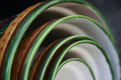 Ceramic Bowls Abstract Royalty Free Stock Photography