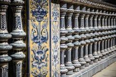 Ceramic Bridge inside Plaza de Espana in Seville, Spain. Stock Image