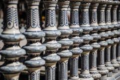 Ceramic Bridge inside Plaza de Espana in Seville, Spain. Royalty Free Stock Images