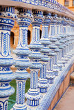 Ceramic bridge in Plaza de Espana in Seville Stock Image