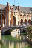 Ceramic bridge at Plaza de Espana, Seville, Spain Stock Images