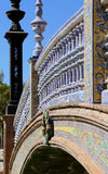 Ceramic bridge in Plaza de Espana (was the venue for the Latin American Exhibition of 1929 ) in Seville, Andalusia, Spain Stock Photography