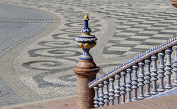 Ceramic bridge in Plaza de Espana (was the venue for the Latin American Exhibition of 1929 ) in Seville, Andalusia, Spain Royalty Free Stock Photos