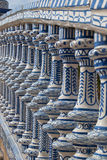 Ceramic Bridge square of Spain in Seville Stock Image
