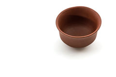 Ceramic brown dishware. Stock Image