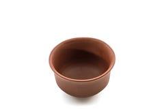 Ceramic brown dishware. Stock Images