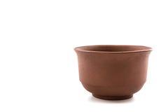 Ceramic brown dishware. Royalty Free Stock Images