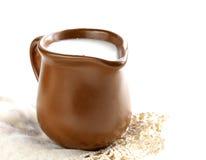 Free Ceramic Brown  Jug Full Of Milk Royalty Free Stock Photography - 34326707