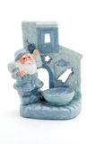 Ceramic candle holder in the form of Santa Claus. Royalty Free Stock Image
