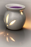 Ceramic candlestick with tealight candle and scented wax Royalty Free Stock Photography