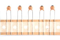 Ceramic capacitors. Royalty Free Stock Photos