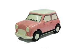 Ceramic Car. Cute Beautiful Pink Ceramic Car stock image