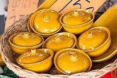 Ceramic casket Stock Image