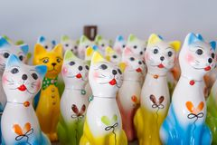 Ceramic Cat detail closeup object. Background royalty free stock images