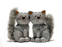 Ceramic cats Stock Images