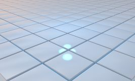 Specular blue floor of background, 3d. Render Stock Photo