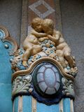 Ceramic cherubs in art nouveau style Stock Images