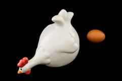 Ceramic chicken Stock Photography
