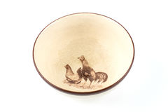Ceramic chicken rooster bowl Stock Images
