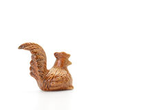 Ceramic chicken on white background Royalty Free Stock Images