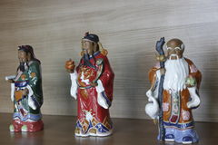 Ceramic chinese lucky sign statue Stock Images