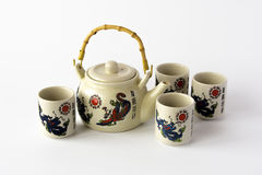 Ceramic chinese tea set Royalty Free Stock Images