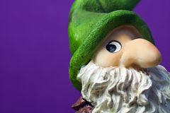Ceramic Christmas Elf Figure - Macro Royalty Free Stock Images