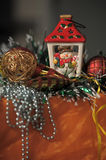 The ceramic Christmas fixture Royalty Free Stock Photos