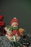 Ceramic Christmas  snowman Stock Photo