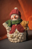 Ceramic Christmas  snowman Stock Images