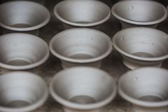 Ceramic Clay Pot Natural Background stock photography
