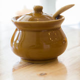 Ceramic clay small pot for cooking or general use Stock Photography