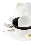Ceramic clean dishes Stock Photos