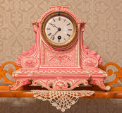 Ceramic clock in palace Saint Anton. Stock Image