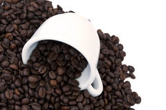 Spilt Coffee Beans Royalty Free Stock Images