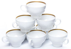 Ceramic coffee cups Stock Photography