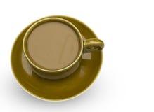 Ceramic coffee mug. Isolated on a white background Stock Photo