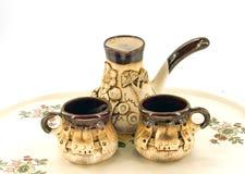 Ceramic coffee set Stock Photo