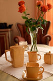 Ceramic coffee set on a table Royalty Free Stock Photo