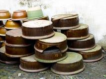 Ceramic containers Stock Photo