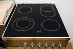 Ceramic cooktop. Electrical hob, modern oven in a house Royalty Free Stock Photography