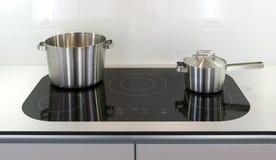 Ceramic cooktop panel Stock Images