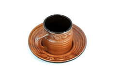 Ceramic Country Cup. For coffee, tea and all hot drink Royalty Free Stock Photography