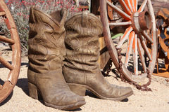 Ceramic Cowboy Boots Royalty Free Stock Photo