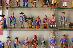 Ceramic craft figurines Stock Photo