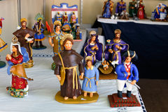 Ceramic craft figurines Royalty Free Stock Images