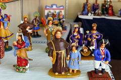 Ceramic craft figurines Royalty Free Stock Photos