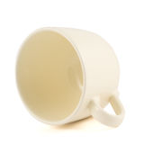 Ceramic cream colored cup isolated Stock Image