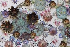 Ceramic crockery art  wall Stock Photography